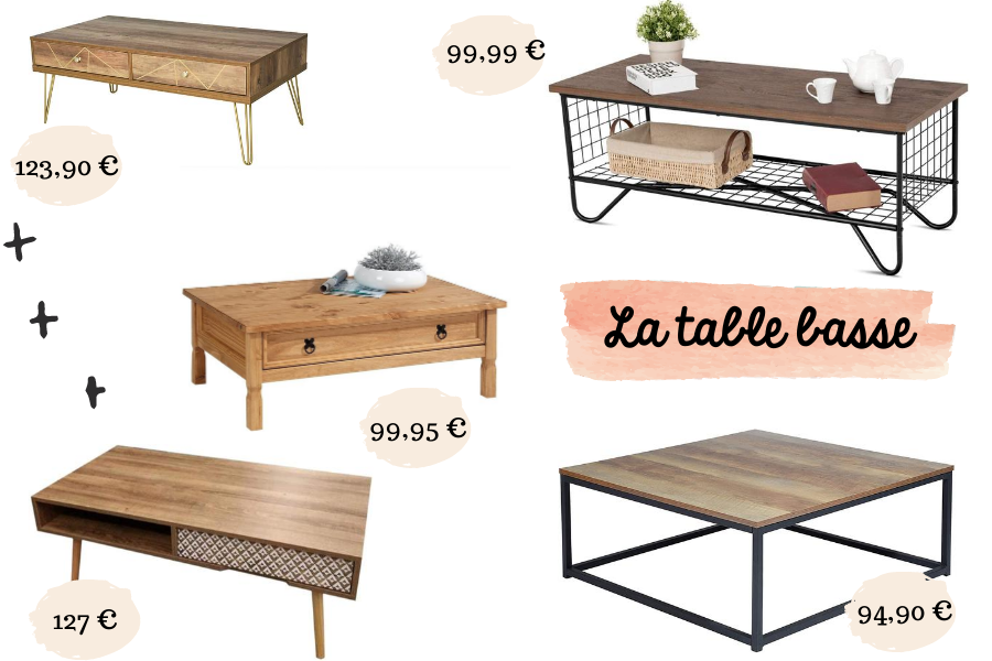 table basse maison campagne