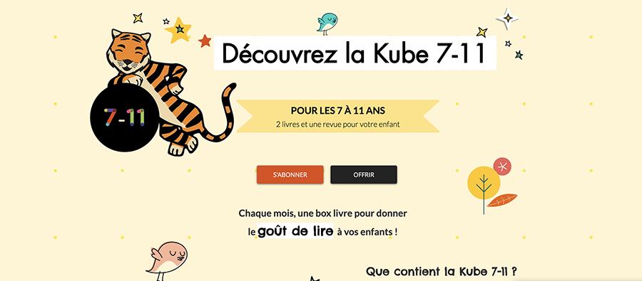Les activités du mercredi: la box littéraire Kube pour les enfants
