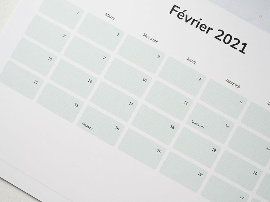 calendrier personnalisé Cheerz