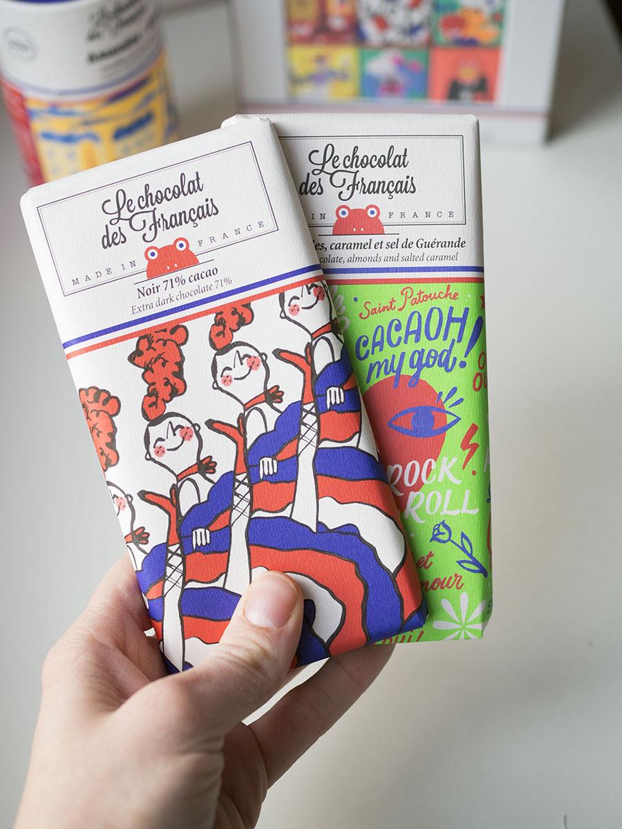 les chocolats des français tablettes