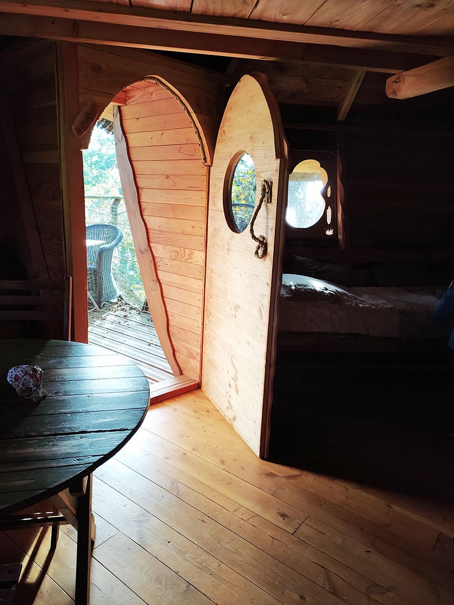 intérieur cabane en bois