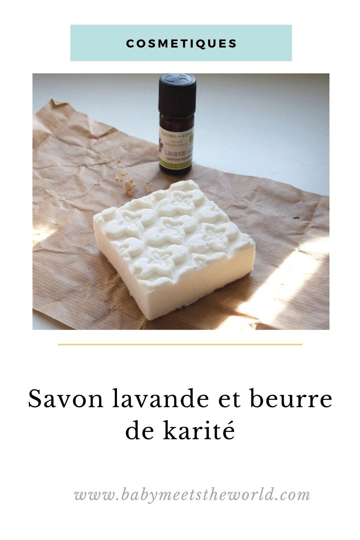 recette de savon lavande et beurre de karité