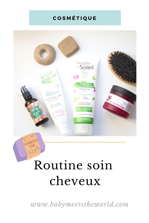 soin routine cheveux