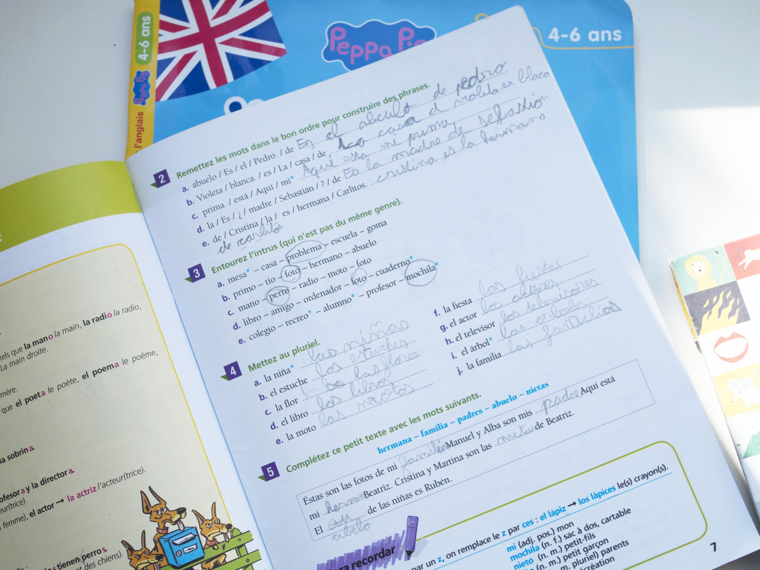 apprendre l'espagnol pour un enfant