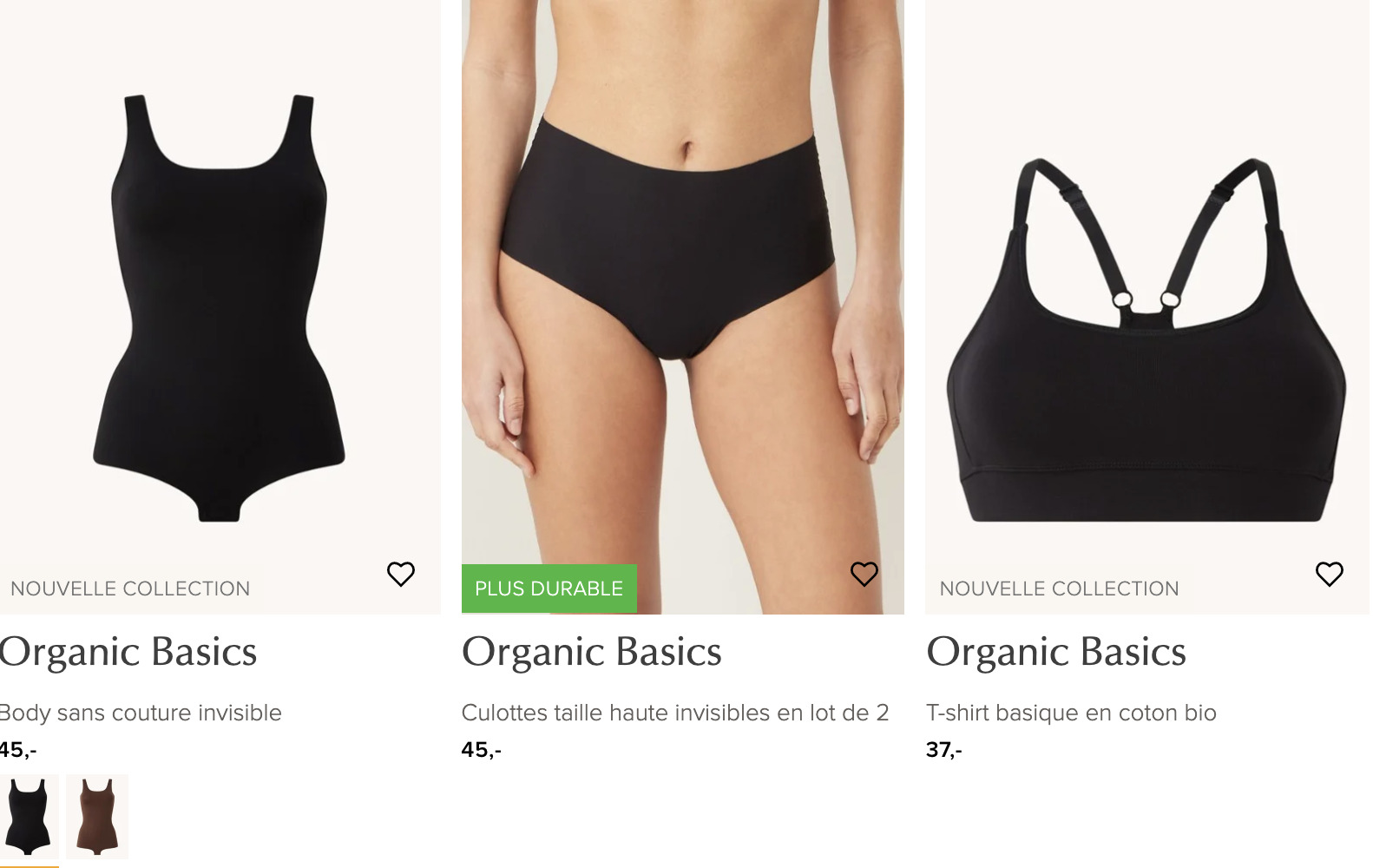 organics basics essentiels